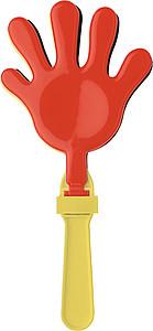 CLAPY Plastový fandič, tleskač ve tvaru ruky,černá, žlutá, červená