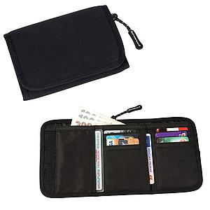 SCHWARZWOLF COIN neoprénová peněženka, černá – reklamní peněženka s potiskem