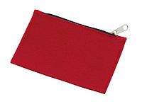 Plstěná peněženka na zip, červená