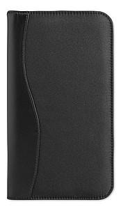 Cestovní peněženka z mikrovlákna, černá
