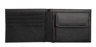 Matná koženková peněženka, černá