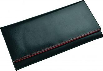 SENATA Dámská kožená velká peněženka, červené lemování