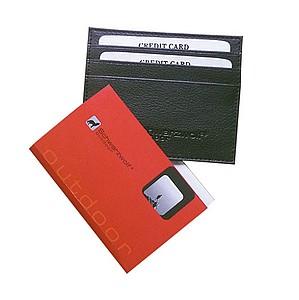 SCHWARZWOLF NAMAK PU černé pouzdro na karty 10x8,3 cm