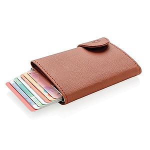 RFID pouzdro na karty a peněženka C-Secure, hnědá