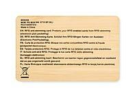Bambusová karta proti RFID skenování