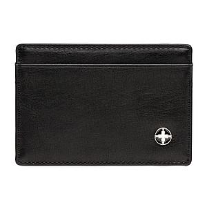 PU obal na karty s RFID ochranou, černá