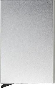 BANDAR Hliníkové pouzdro na karty s RFID ochranou, stříbrné