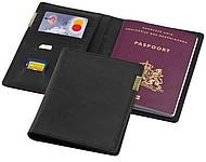 Obal na cestovní pas se zlatým logem Balmain, černá