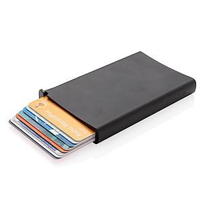Hliníkové RFID pouzdro na karty, černá
