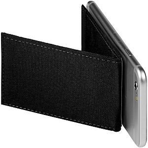 Telefonní pouzdro na karty s RFID se stojánkem, černá