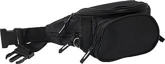 BARBORKA Ledvinka s 5ti kapsami na zip, černá