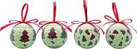 AZUMER Sada 4 vánočních ozdob