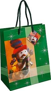 REGLUS vánoční papírová taška, zelená
