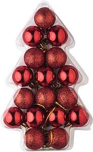 ATALANTE Sada červených vánočních baněk