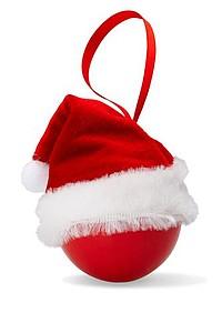 LUSYNA Vánoční ozdoba s čepičkou - reklamní bundy