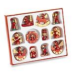 LAPONIA Sada vánočních ozdob ze dřeva, 12 ks