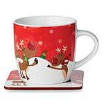 Hrnek s vánočním dekorem - reklamní bundy