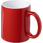 Keramický hrnek s bílým vnitřkem, bílá/červená