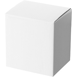 Kónický čtyřhraný keramický hrnek, objem 350 ml bílá