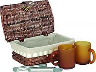 BELA SADA Dárková sada na čaj, 2 hrnky,2 sítka na čaj