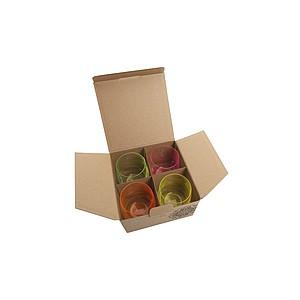 VS HATTA sada 4 neonových sklenic - mix barev