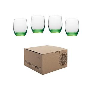 VS HATTA sada 4 zelených neonových sklenic - reklamní hrnky