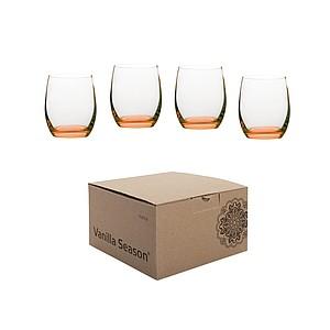 VS HATTA sada 4 oranžových neonových sklenic