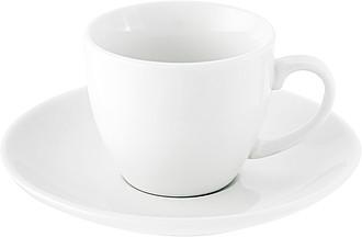 LEISURE Porcelánový šálek 80 ml s podšálkem