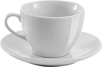 NAGOJA Porcelánový šálek 230 ml s podšálkem