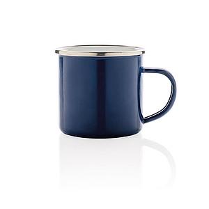 Retro smaltový hrnek, modrá
