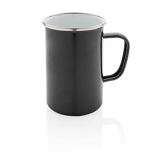 LUBEFU Retro smaltový hrnek XL, černá