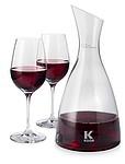 Skleněná karafa na víno se dvěma skleničkami zn. Paul Bocuse