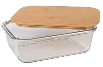 MANA Skleněný lunchbox s bambusovým víčkem, 1060ml