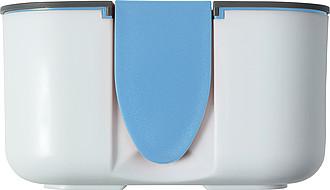 FILKA Krabička na oběd s kapacitou 850ml, bílo šedo světle modrá