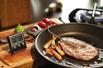 MUGULO Kuchařský teploměr do masa s kuchyňskou minutkou