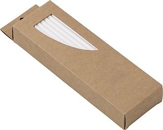 WAVRINO Papírová brčka, 50ks v papírové krabičce - reklamní kancelářské potřeby