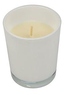 Svíčka ve skle, bílá