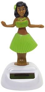 Solární hula hula tanečnice se zelenou sukní