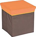 Skládací stolička z netkané textilie, oranžová