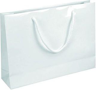 IVONE 35 Papírová taška s lesklou povrchovou úpravou,35x9x24cm papírová taška s potiskem