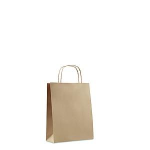 Malá papírová dárková taška, béžová