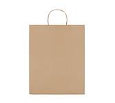 Velká papírová dárková taška, béžová
