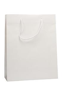 KOFIRA Papírová taška 32x13x40, bílá, křídový papír, lesklé lamino