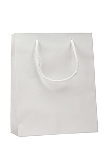 KOFIRA Papírová taška 25x11x31 cm, bílá, křídový papír, lesklé lamino - reklamní kancelářské potřeby