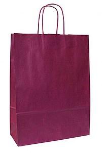 LANKA 23 Červená papírová taška 23x10x32 cm, kroucená držadla