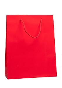 ADAVERA Papírová taška, rozměr 32x13x40cm, červená, lamino lesk - reklamní kancelářské potřeby