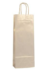 AMBRONIA Luxusní papírová taška na víno 15*8*40, zlatá