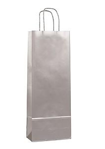 AMBRONIA Luxusní papírová taška na víno, stříbrná papírová taška s potiskem