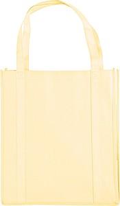 DIKON Široká nákupní taška z netkané textilie, béžová