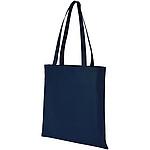 TOMAN Bavlněná nákupní taška, aqua modrá